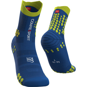 Compressport Pro Racing V3.0 Trail Chaussettes, blue lolite/lime